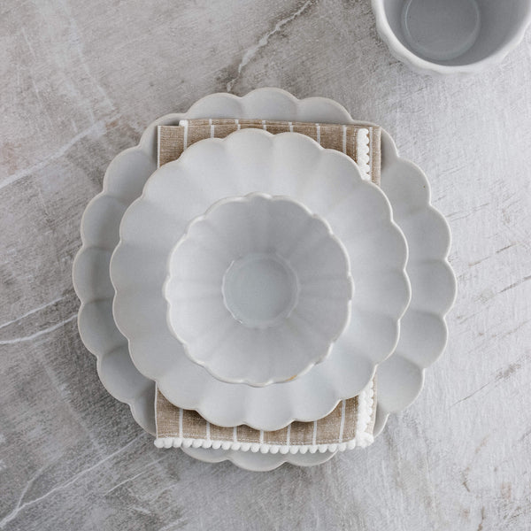 Amelia Salad Plate in White