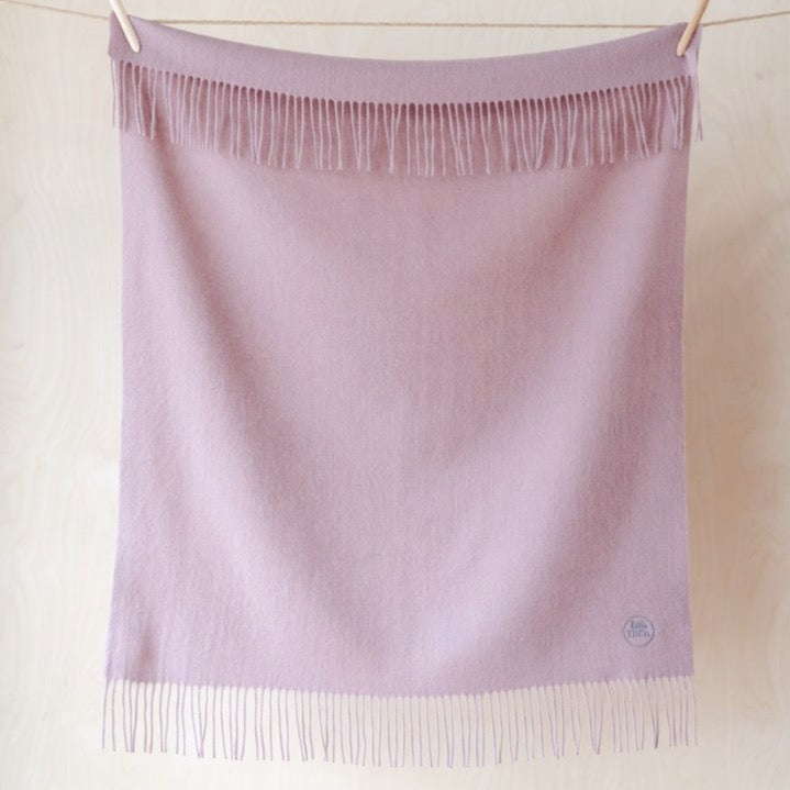 Dusty Rose Lambswool Baby Blanket
