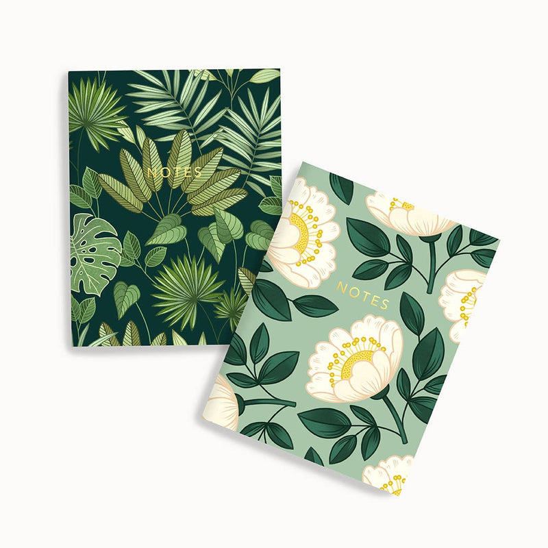 Pocket Notebook Set of 2 - Jungle & Blossom