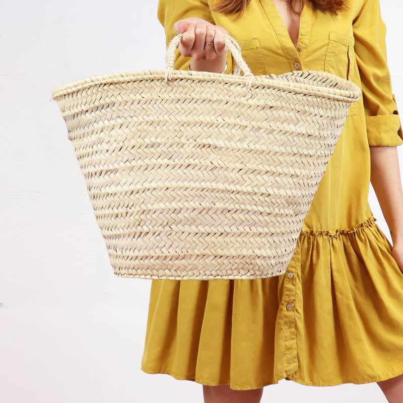 Classic French Straw Market Baskets