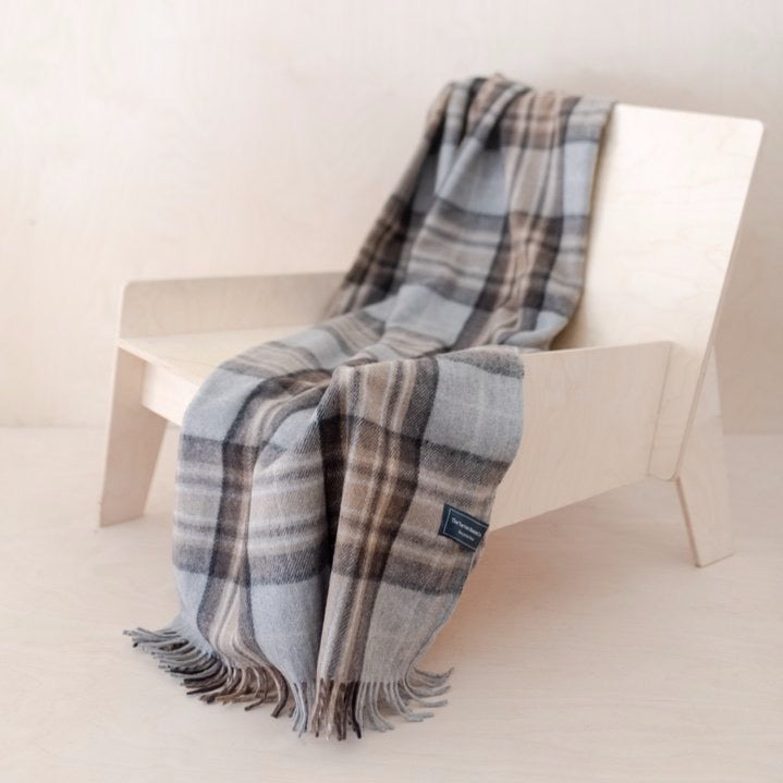 Recycled Wool Knee Blanket in Mackellar Tartan
