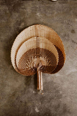 Handwoven Paradisio Palm Fan in Chocolate Ombre