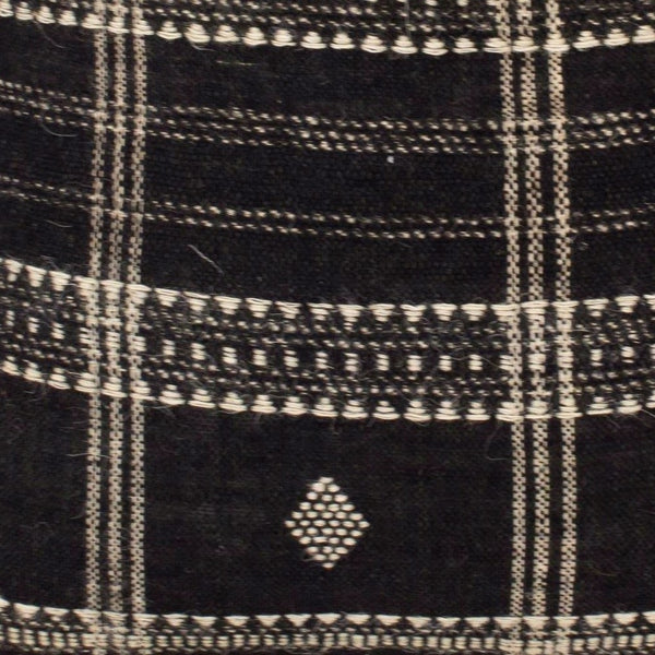 20x20 Handwoven Wool Pillow in Black