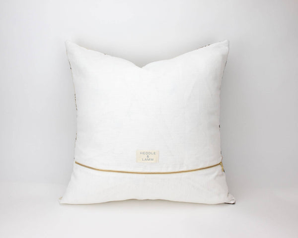 20x20 Handwoven Wool Pillow in Beige