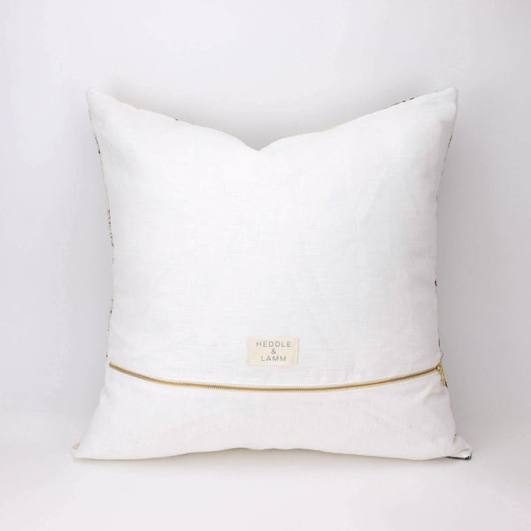 20x20 Handwoven Wool Pillow in Ivory