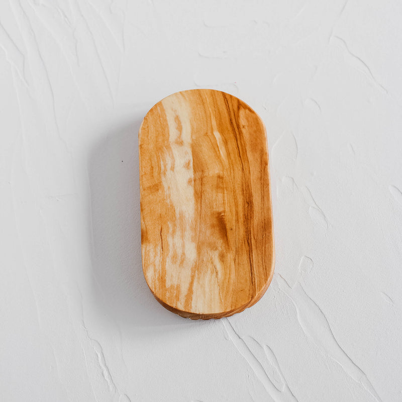 Olive Wood Oval Soap Dish