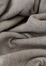 Herringbone Recycled Wool Blanket | Natural