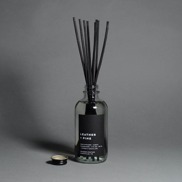 Leather & Pine Reed Diffuser