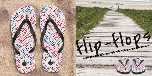 Flip-flops Beach shoes unique gift