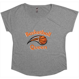 women's grey basketball t-shirt
