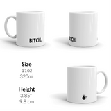 Set of Four profanity mugs - Fuck, Cunt, Bitch, Cock