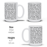 Funny mug with sex vagina terms OWS