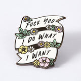 Badass enamel pin by OWS
