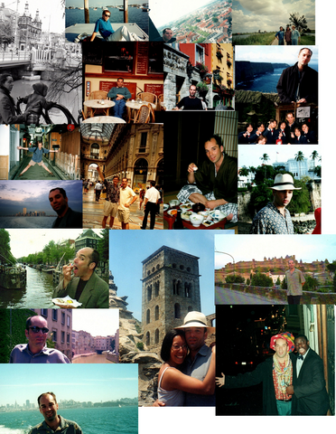 collage of Tys travel photos