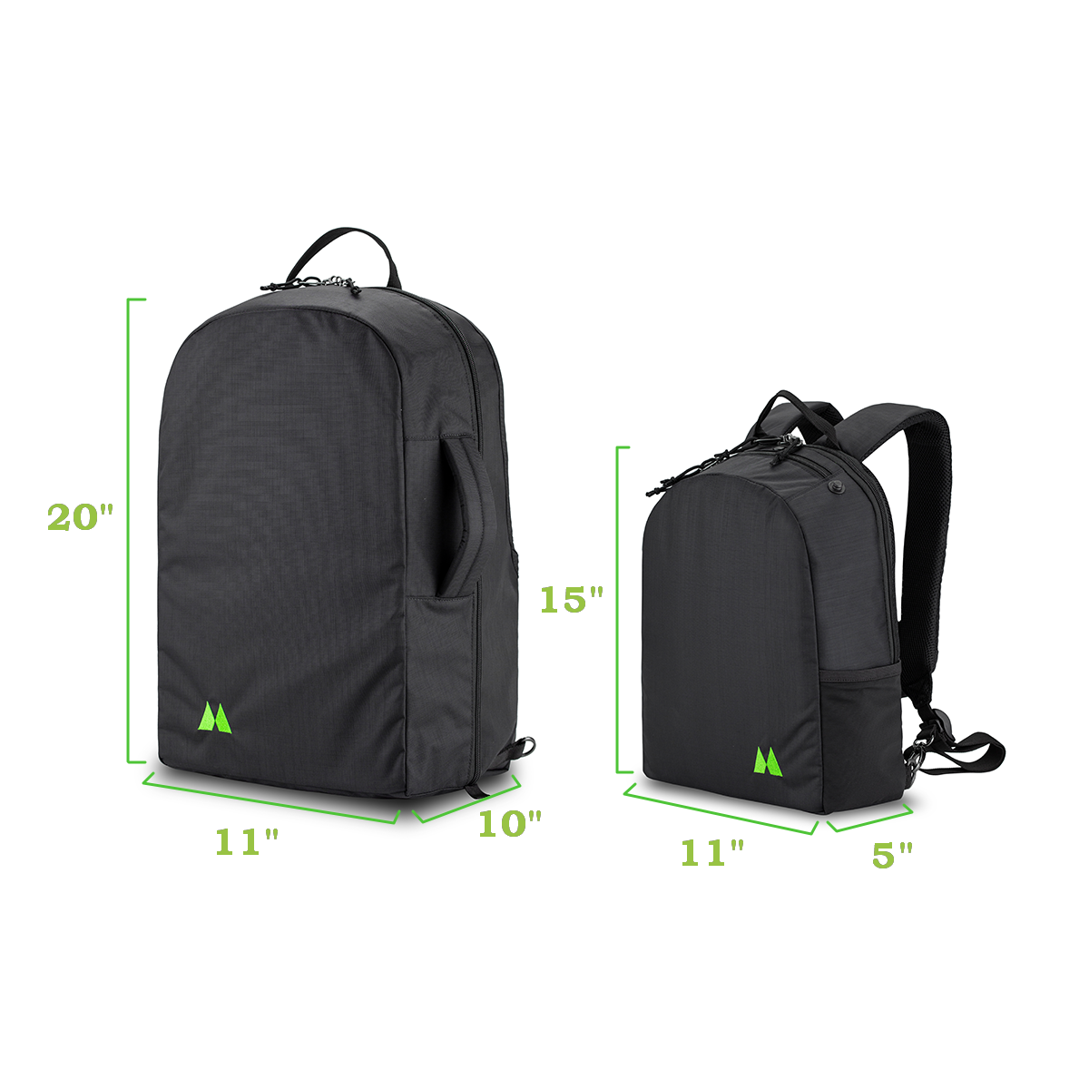travel pack and day pack dimensiosn