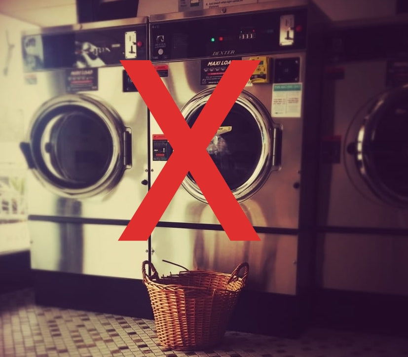 Laundry machine not allowed!