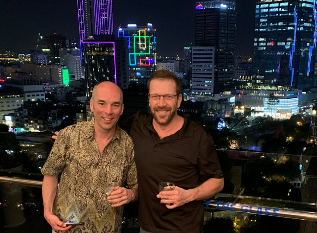 Todd and Me crashing a party in Saigon