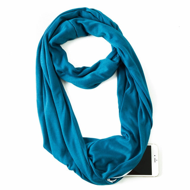 Long Scarf with secret pocket