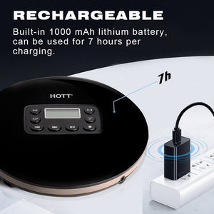 CD711T Bluetooth Rechargeable CD Player | Hottaudio