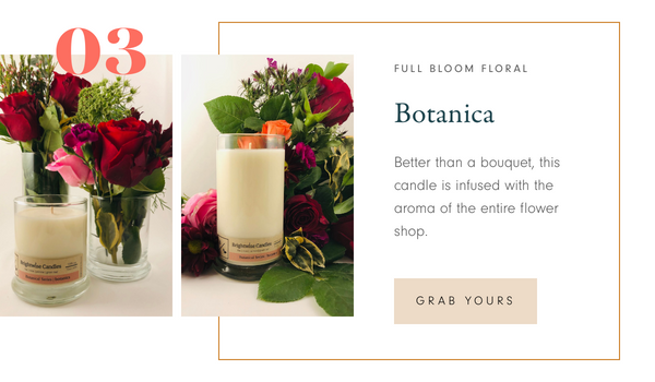 Brightwise Candles Botanica Scented Soy Wax Candle