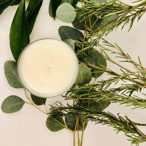 Rosemary Sage Scented Soy Wax Tealights - Brightwise Candles