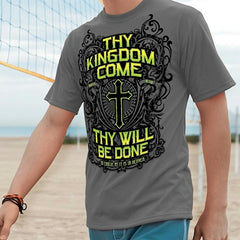 Christian cross t-shirts - Thy kingdom Come Cross shirt