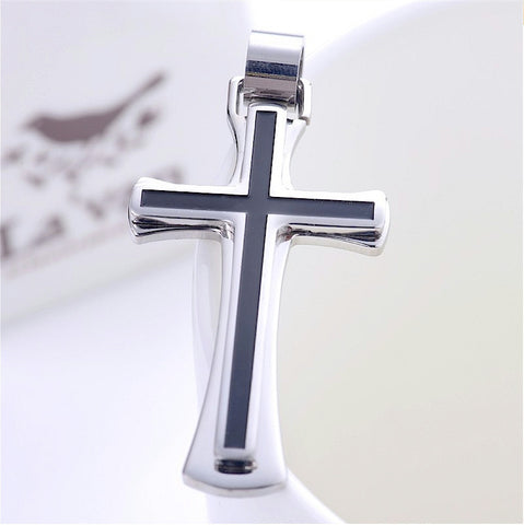 316l Stainless Steel Cross Necklace Pendant for men and women - LYC