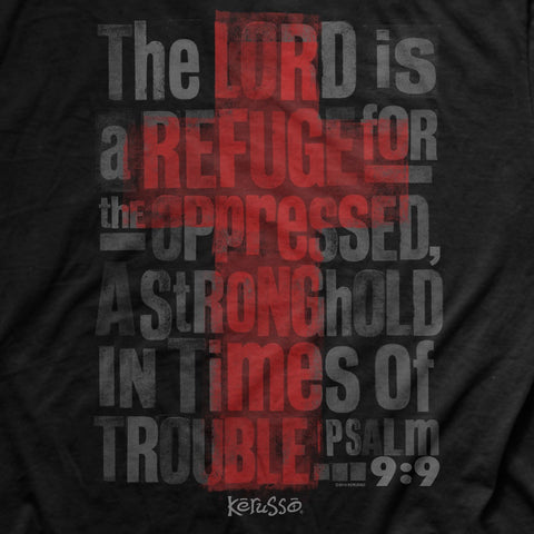Christian T-shirt Men's - The Lord is a Refuge