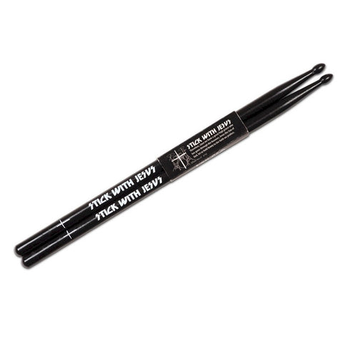Christian Cross Drumsticks - Black Color - Stick With Jesus - LYC