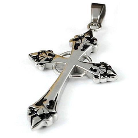 Luxury Chunky Spades Cross Pendant Necklace - LYC