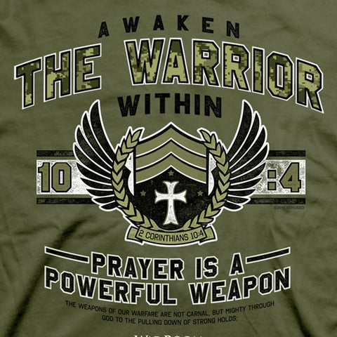 Christian T Shirt Awaken The Warrior Within