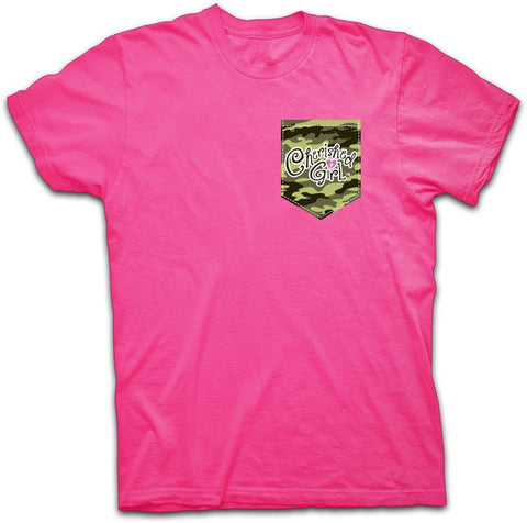 Christian Girls T-Shirt - Camo and Pearls - Lift Your Cross