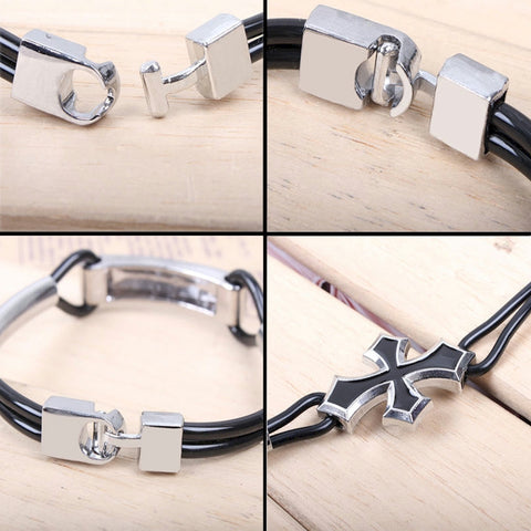 Stainless steel Cross Charm Bracelet