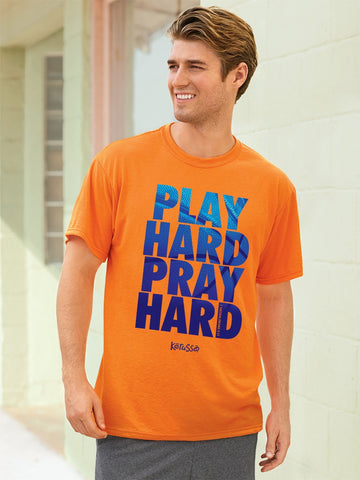 Christian T-Shirt - Play Hard Pray Hard