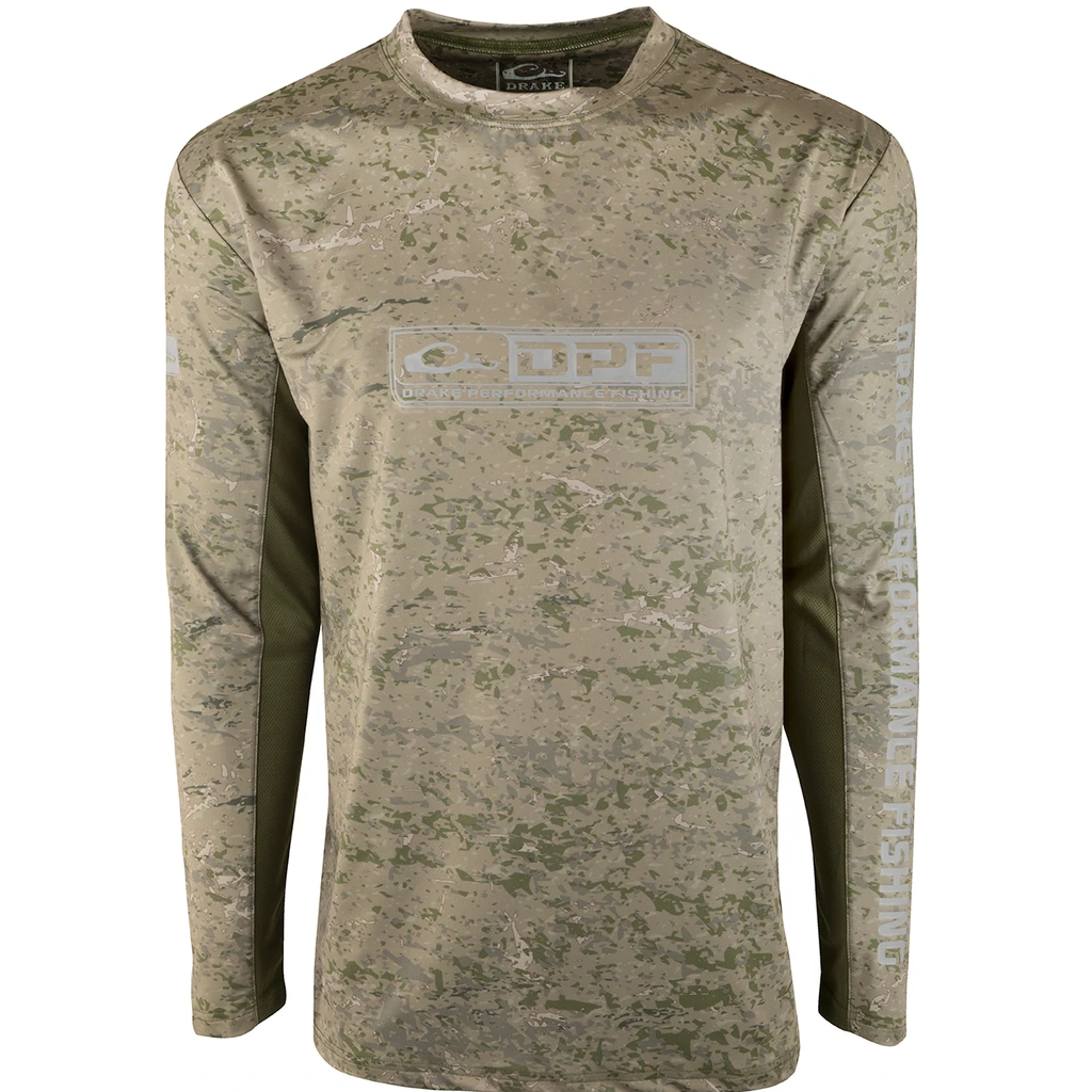 Drake Shield 4 Arched Mesh Back Crew Long Sleeve