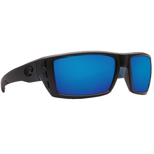 Costa Rafael Matte Black/Blue Mirror