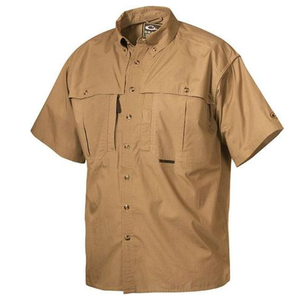 Drake Cotton Wingshooter's Shirt with Staycool Fabric S/S