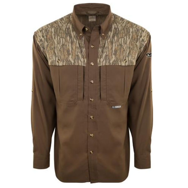 Drake EST Two-Tone Camo Flyweight Wingshooter's Shirt L/S