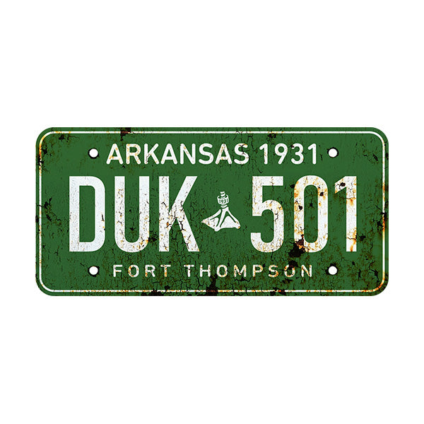 Fort Thompson Antique Licence Plate Sticker