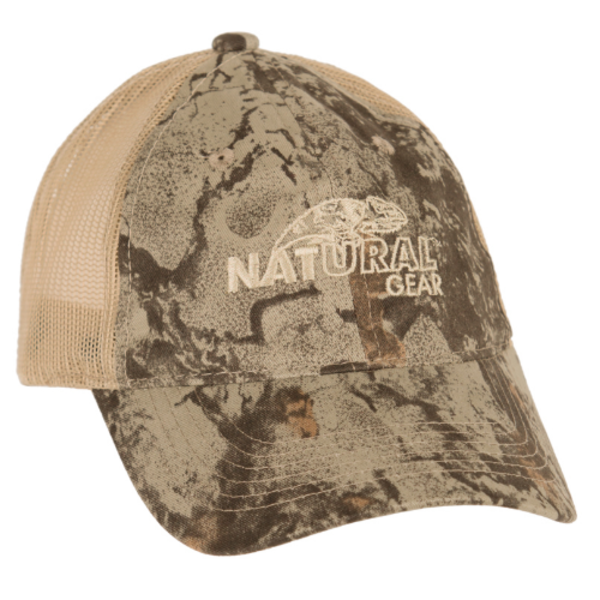 Natural Gear 6 Panel Logo Baseball Cap
