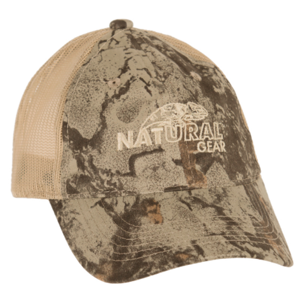 Natural Gear Structured Mesh Back Logo Cap