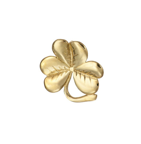deblaca shamrock pin gold