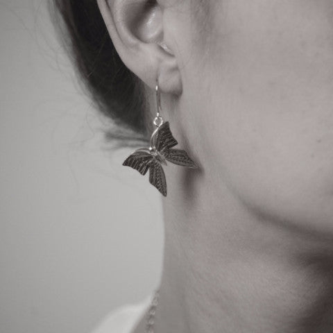 I still get butterflies earrings in silver