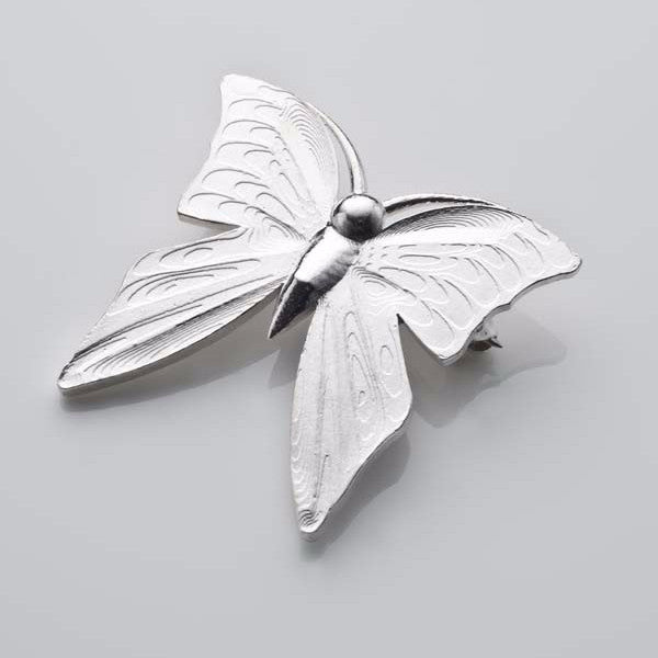 I still get butterflies brooch in silver