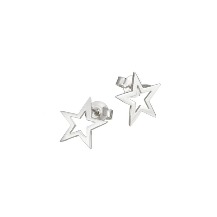Twinkle twinkle little star stud earrings in silver
