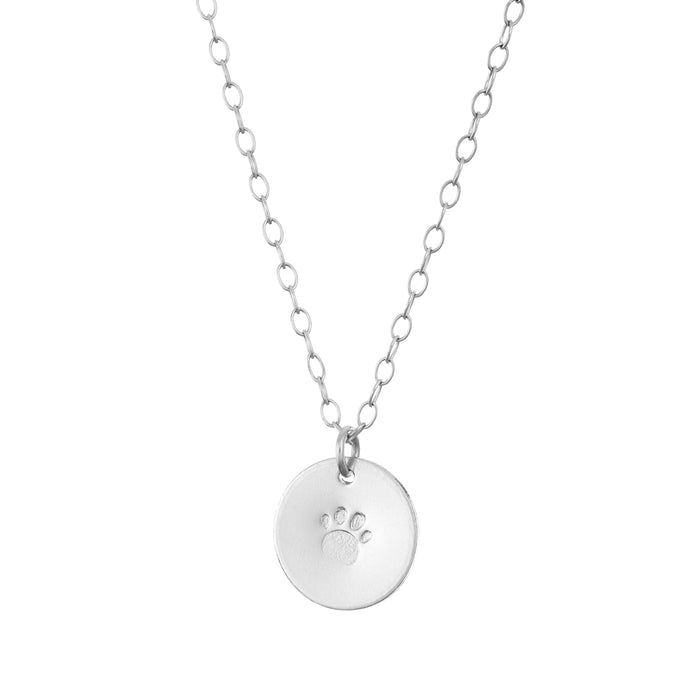 Personalise silver initial Necklace with one disc