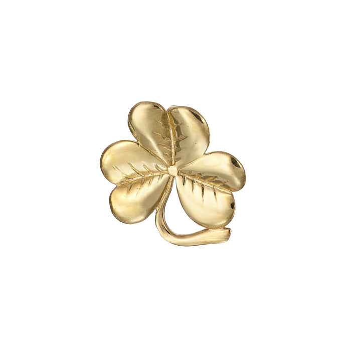 My lucky shamrock brooch medium in gold
