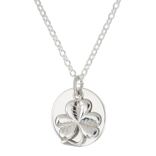 Personalise Charm Necklace - Shamrock