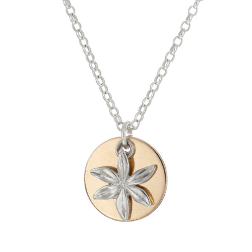 Personalise Gold Charm Necklace - Daisies