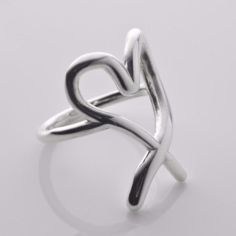 You have my heart Ring in silver